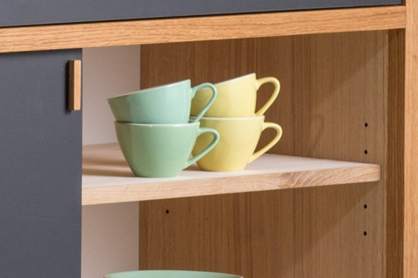 sideboard nach mass in massivholz eiche. Black Bedroom Furniture Sets. Home Design Ideas