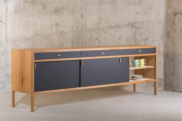 sideboard nach mass in massivholz eiche. Black Bedroom Furniture Sets. Home Design Ideas